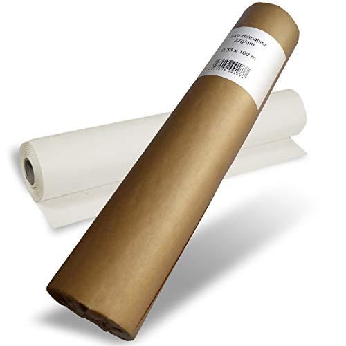 POLYTEKT - Skizzenrolle Skizzenpapier 22g 33cm x 100m