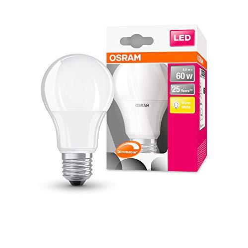 OSRAM LED SUPERSTAR Ampoule LED, Forme Classique, Culot E27, Dimmable, 9W Equivalent 60W, 220-240V, dépolie, Blanc Chaud 2700K, Lot de 1 pièce