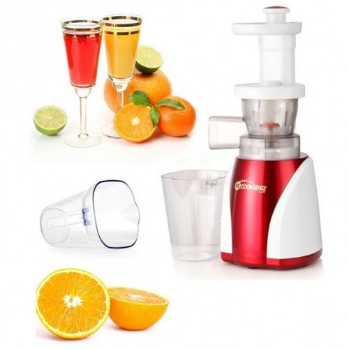 Cooksense Zitrusfrüchte Entsafter Slow Juicer HD 8801 Made in Korea rot weiß