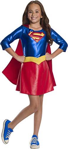 Rubie's DC Super Hero Girl's Deluxe Supergirl Costume Dress, Large