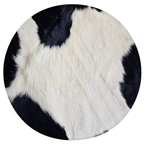 Yiaoflying Round Chair Pads Cowhide Printed Chair Cushion Memory Foam Pads Comfort Non Slip Dia 15 inch Home Office Party Decoration Circle Sofa Seat Cushion