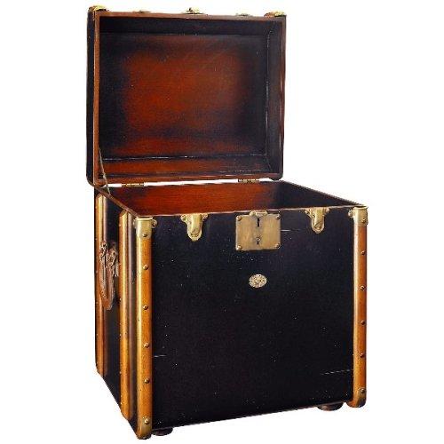 ProPassione Koffer-Tisch Pullmann, klein, Antiklook, Farbe Schwarz/Kirschbaum, Maße: B 53 x H 56 x T 45 cm