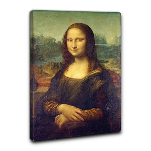 Niik Quadro + Telaio (BC) la Gioconda di Leonardo da Vinci 60 x 40 x 1,7 cm Falso d'autore Stampa su Tela