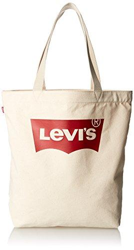 LEVIS FOOTWEAR AND ACCESSORIES Batwing Tote W, Cabas Femme, Beige, 39x14x30 cm (W x H x L)