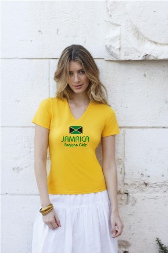 world-of-shirt Damen T-Shirt Jamaica / Jamaika Reggae Girlz