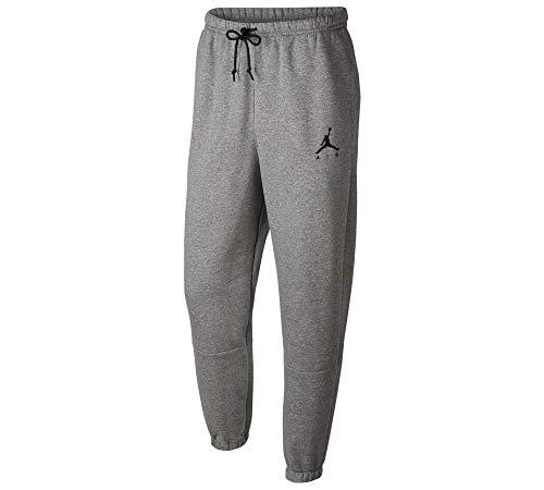 Air Jordan Herren Jumpman Fleece Jogginghose Performance Trainingshose Carbon Heather/Carbon Heather/Black L
