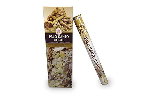 LAMARE Incienso Perfumado Palo Santo Copal (6 Tubos x 20 Varillas)