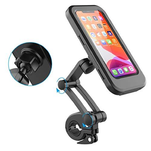 Eamplest Soporte Movil Bici, 360° Rotación, Altura Ajustable, Estable y Robusto, Pantalla Táctil Sensible, Resistente al Agua, Soporte para Movil Bicicleta para Teléfonos Móviles de hasta 6.7'