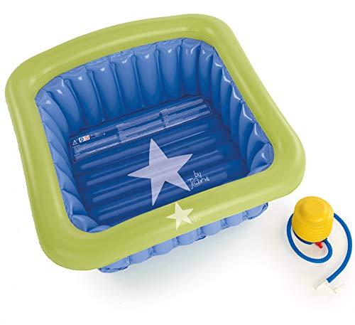 Jané 040308 T24 Badewanne für die Dusche 60 x 60cm, aufblasbar, 70Liter, inklusive Pumpe, mit Saugnäpfen, blau