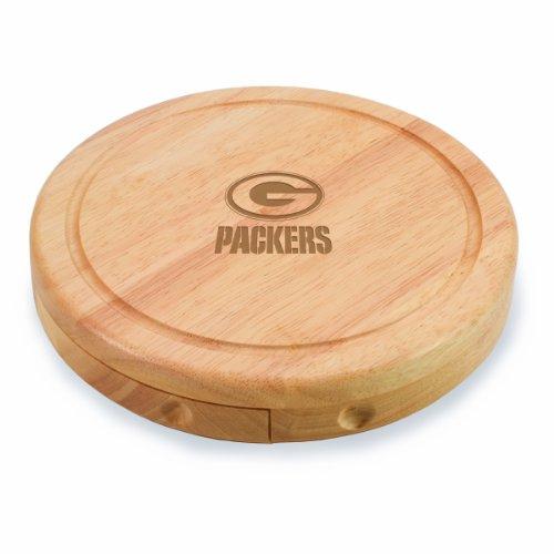 Conjunto de tabuleiro de queijo/ferramentas NFL Green Bay Packers Brie, 18 cm