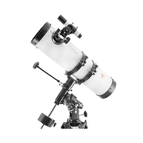 TS-Optics Spiegelteleskop Newton Teleskop Komplettset für Kinder und Einsteiger in die Astronomie mit 130/650 mm inklusive EQ3-1 Montierung und umfangreichem Zubehör. Starscope1306