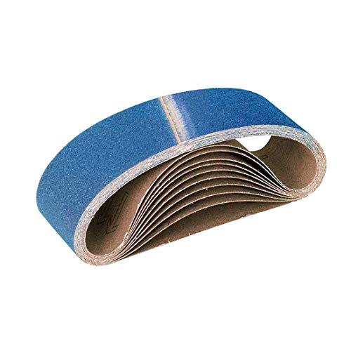 MENZER Blue Schleifbänder, 457 x 75 mm, Korn 80, f. Handbandschleifer, Zirkonkorund (10 Stk.)