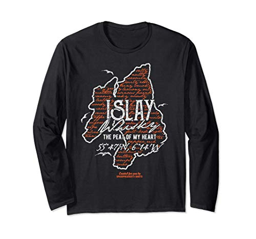 Whisky Fan Design Islay Tasting Notes cooles Whisky Langarmshirt