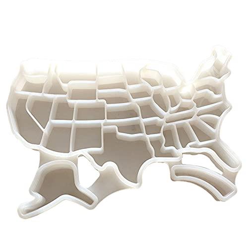 Changge American map silicona bandeja moldes con tapa hogar reutilizable seguridad para bebidas refrigeradas whisky