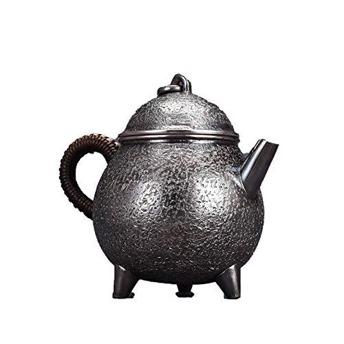 CRTTRC La Tetera de Plata Pura Pot hogar Tetera Vaso Conjunto Agua Caliente Sterling Silver Tea Servicio Hervidor Adultos Mujeres