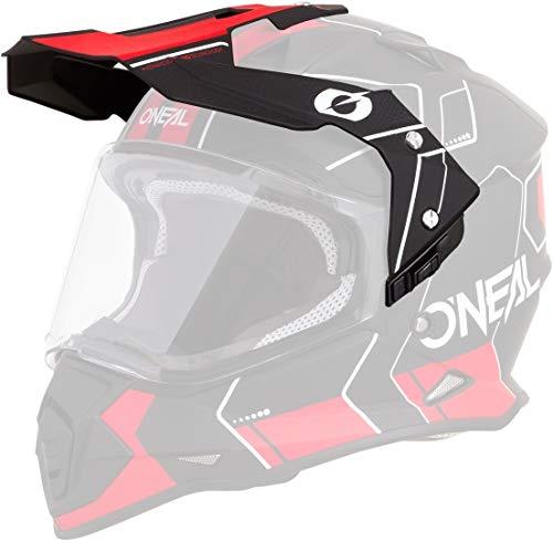 O\'NEAL   Motorrad-Helm-Ersatzteile   Street Adventure Motocross   Ersatzschirm Sierra Helmet Comb   Spare Visor Sierra Comb   Schwarz Rot   One Size