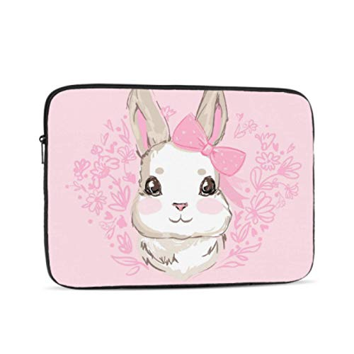 Macbook Air 2018 Case Cute Design Cartoon Snow White Rabbit Bunny Macbook Pro Cover Multi-Color & Size Choices10/12/13/15/17 Inch Computer Tablet Briefcase Carrying Bag