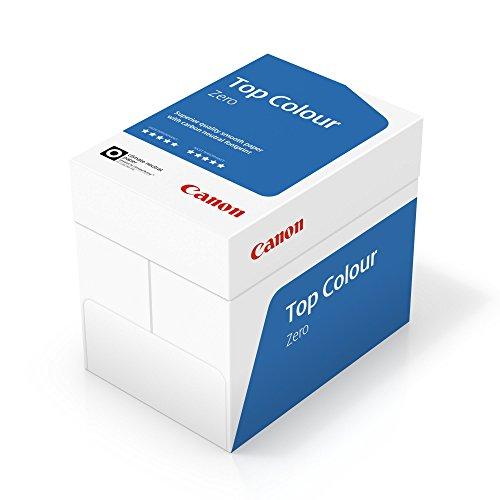 Canon Deutschland Top Colour Zero; Druck- und Kopierpapier, 5x 500 Blatt FSC zertifiziert, CO2-neutral, A4, 100 g/m², alle Drucker hochweiß CIE 164 (frustfreie Schutzverpackung)