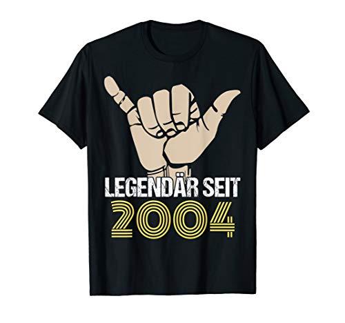 16. Geburtstag Junge Mädchen 16 Jahre Jahrgang 2004 Geschenk T-Shirt