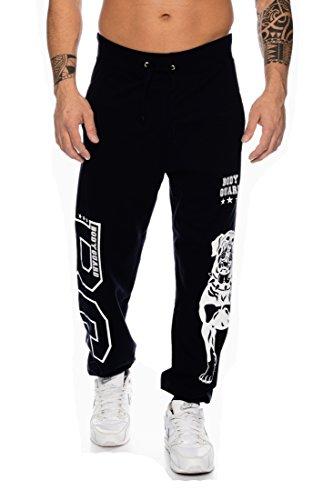 Raff & Taff Jogginghose Sweatpants Sporthose Bulldog Bodyguard aus hochwertiger Baumwollmischung (Schwarz, 5XL)