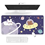 Kawaii Desk Pad,Cute Keyboard Pad Cartoons Mouse Pad,Extend Large Gaming Mouse mat,Non-Slip Rubber Base Easy Clean Laptop Desk Mat for Gaming, Writing, or Home Office Work