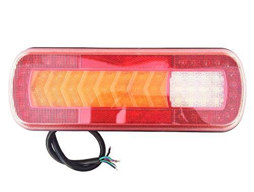 LED achterlicht met dynamische knipperlichten 280x100x30 64 LEDs 12V 24V voor auto vrachtwagen aanhanger