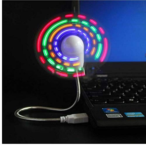 Cool Hand Mini Ventilador portátil Gadgets Flexible Cuello de Cisne Led Reloj para PC Portátil visualización en Tiempo Real Duradero Ajustable