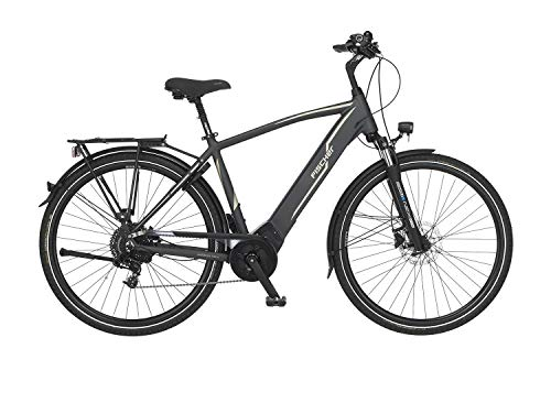 FISCHER Herren Bicicleta eléctrica Trekking Viator 5.0i, Mate, 28 Pulgadas, RH 55 cm, Motor Central Brose Drive C 50 NM, batería de 36 V, Unisex Adulto, Gris Opaco, Rahmenhöhe 50 cm