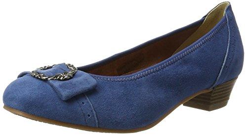 HIRSCHKOGEL Damen 3009220 Pumps, Blau (Jeans), 39 EU