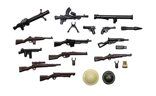 BrickArms Alliiertes Waffenset, WW2 Set De Armas Custom armas para figuras LEGO