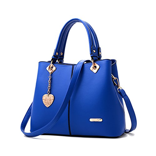 Tisdaini® Damenhandtaschen Mode Schultertaschen Shopper Umhängetaschen Blau