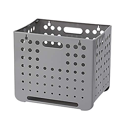 HSGei Wäschekorb mit Griff Leinen Wäschekorb Einbau-Liner mit abnehmbarem und Nützliches Upgraded Folding Wäschekorb Spielzeug-Speicher-Grid-Muster,Grau,A
