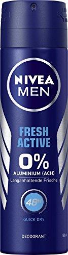 Preisvergleich Produktbild NIVEA MEN Fresh Active Deo Spray im 6er Pack (6x 150 ml),  Deo ohne Aluminium mit erfrischender Formel,  Deodorant mit 48h Schutz pflegt die Haut