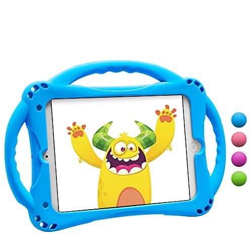 TopEsct iPad Mini Hülle Kinder Anti-Shock Stoßfest Handgriff Ständer Schutzhülle für iPad Mini, Mini 2, Mini 3 iPad Mini 4 & iPad Mini 5 2019 (Blau)