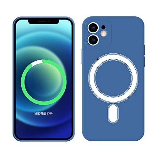 TONGTONG Funda de silicona con anillo magnético para iPhone 12, funda Mini 11 Pro Max 12Pro Xr X Xs 7 8 Plus Se 2020 Magsafe Magsafe Magsafe