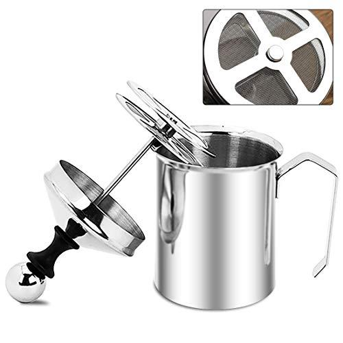 Montalatte manuale in acciaio inox, schiumatore a pompa per cappuccino, caffè latte...