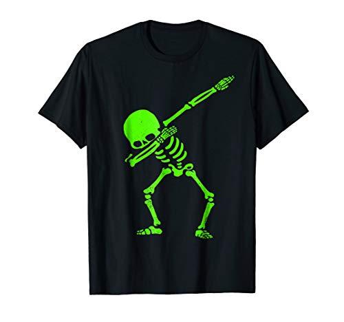 Dabbing Skeleton Shirt Halloween T-Shirt GLOW Skeleton Dab