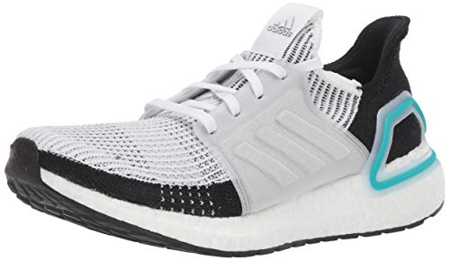 adidas Men's Ultraboost 19 Running Shoe, White/White/Collegiate Royal, 7 UK