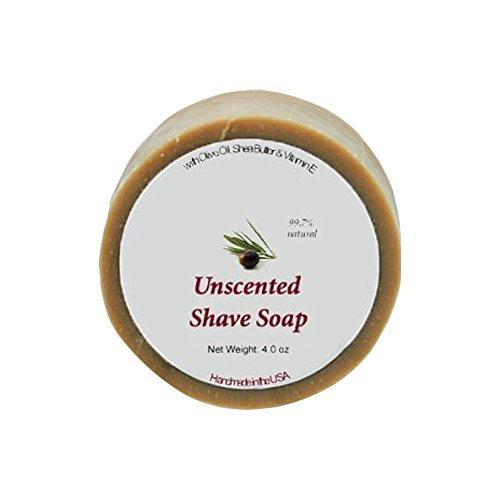 Shaving Soap - Unscented Shave Bar Soap - 4 oz bar by MoonDance Soaps...