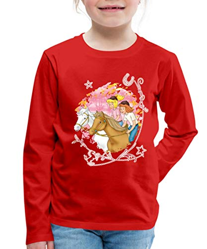 bester der welt Bibi und Tina Wettbewerb im Wald, Jungen Langarm Premium T-Shirt, 110-116, rot 2021