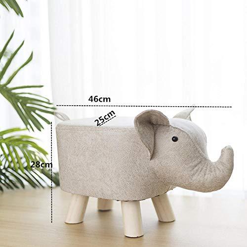 hamacy Home Tierhocker Cartoon Fußhocker Deko Hocker Kinderhocker für Kinderzimmer Wohnzimmer Schlafzimmer-weißer Elefant