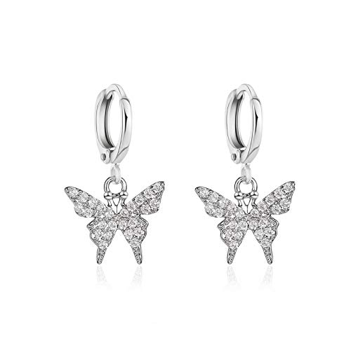 Cystal Butterfly Drop Earrings For Women Bohemia Vintage Female Accessories 2020 Trendy Party Wedding Earring-e071yin