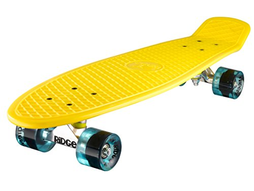 Ridge Skateboard Big Brother Nickel 69 cm Mini Cruiser, gelb/klar blau