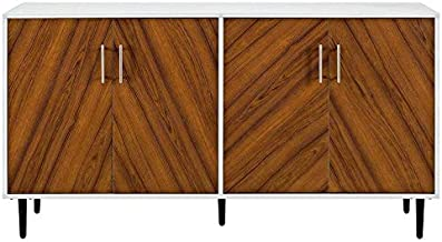 """Pemberly Row Mid Century Modern Bookmatched Universal Stand for TV's up to 64"""" Living Room Buffet Credenza Storage Enterta..."""
