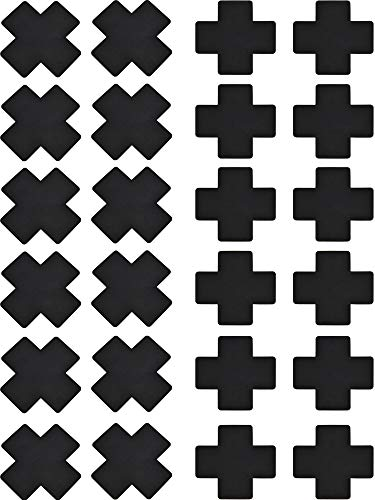 SATINIOR 15 Pairs Disposable Breast Covers Nipple Cover Self-adhesive Pasties Stickers, Cross Shape, Style Set 1, One Size