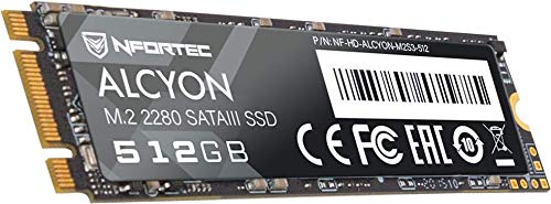 Nfortec Alcyon M.2 SSD 512GB SATA III,Disco Duro Estado sólido Interno con Interfaz Serial ATA III 6Gb/s