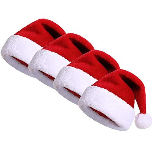 Pollara Unisex kerstmuts wintermuts rood gebreide muts kerstmuts bommel