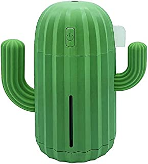 USB Cactus Air Humidifier 340ml Mini Humidifier with LED Light Portable Convenient for Home Bedroom Office Car Travel Yog...