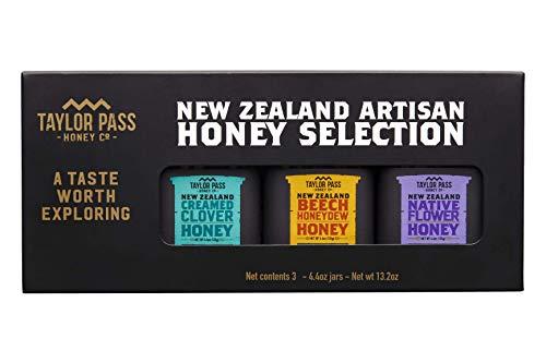Taylor Pass Honey Co Artisan Honey Selection Gift Set Raw Healthy Delicious New Zealand Honey Non-Gmo