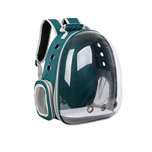 JXLBB Espace pour Animaux de Compagnie Sac pour Chat Sac pour Chat avec Sac à Dos à bandoulière et Sac à bandoulière avec Cabine Transparente et Respirante (Color : Green)